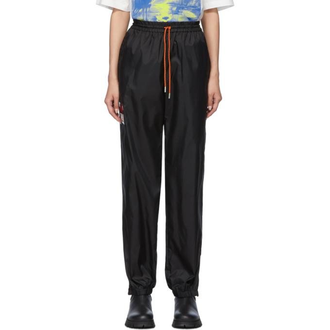 Black Nylon Track Pants