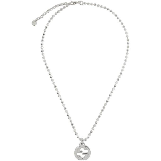 Silver Interlocking G Necklace
