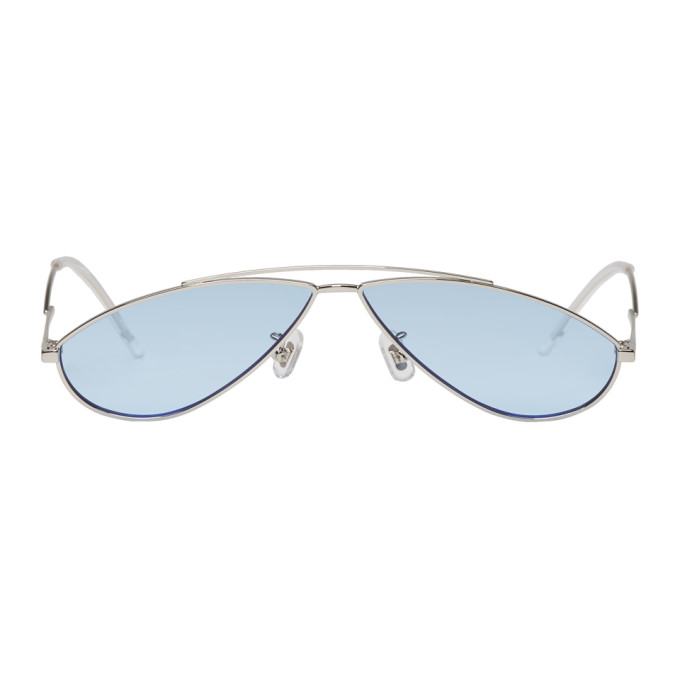 Silver and Blue Kujo Sunglasses