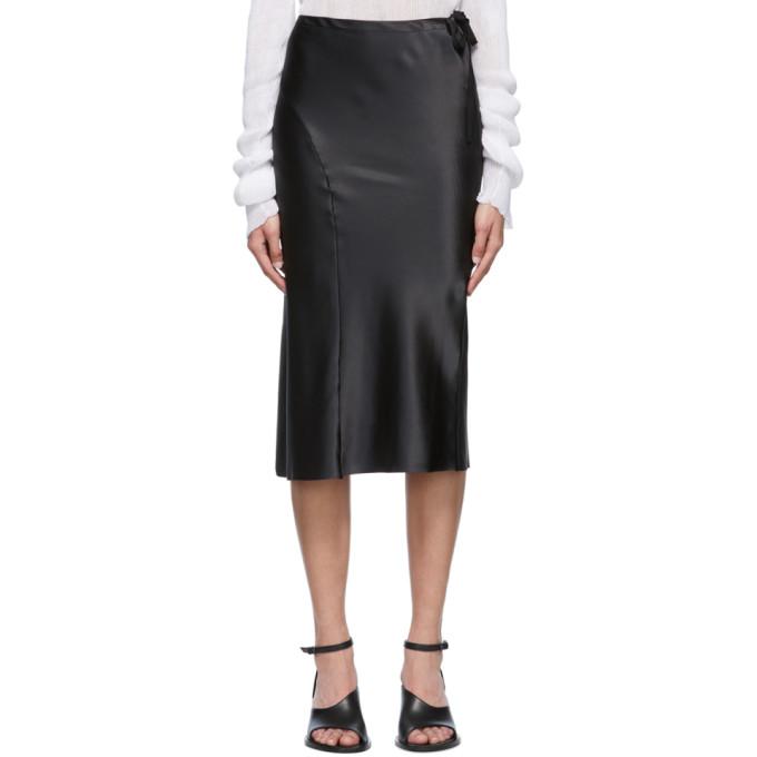 Black Silk Ribbon Skirt