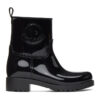 Black Ginette Rubber Boots