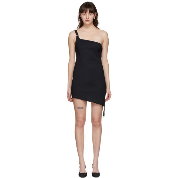Black Upside Down Mini Dress
