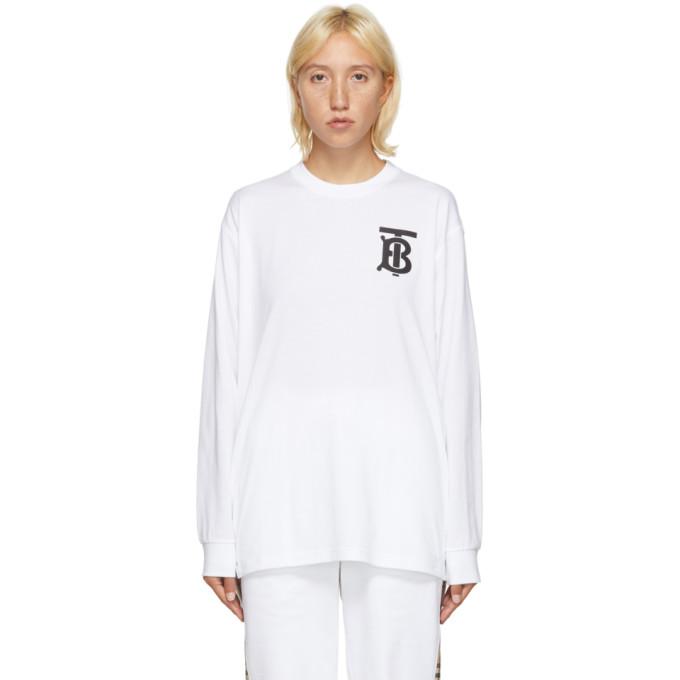 White TB Monogram Atherton Sweatshirt