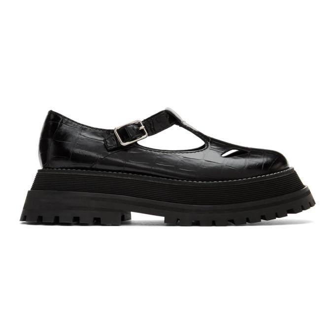 Black T-Bar Loafers