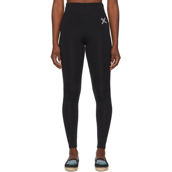 Black Sport Logo Leggings