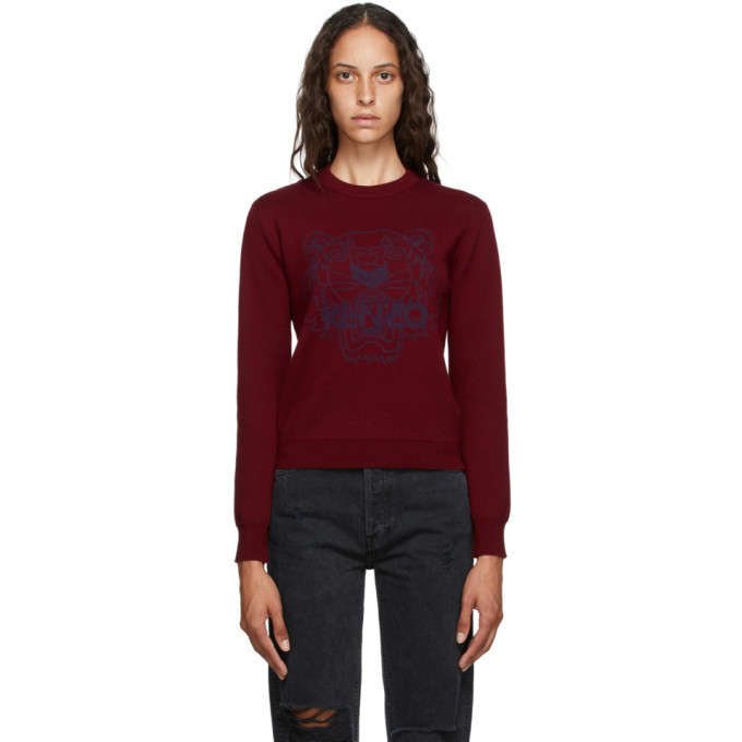 Burgundy Tiger Sweater