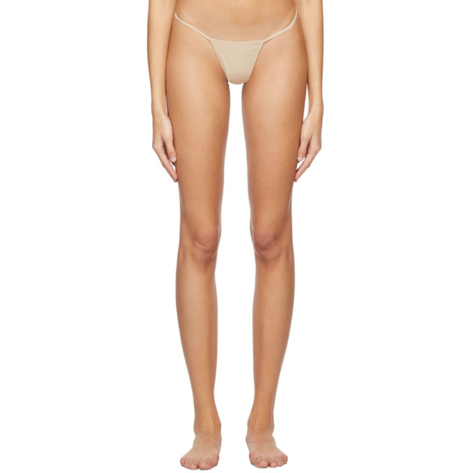 Beige Invisible Second Skin Thong