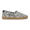 Black and White Babycat-Print Embroidered Espadrilles