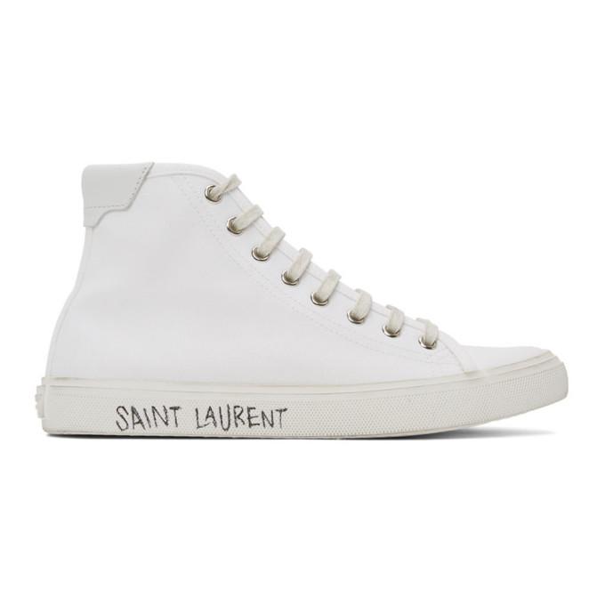 White Canvas Malibu Sneakers