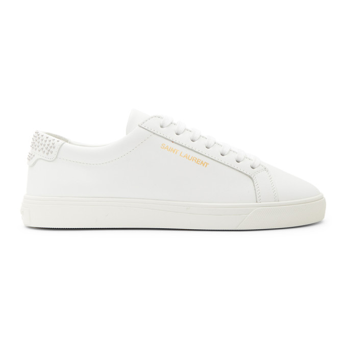 White Studded Tab Andy Sneakers