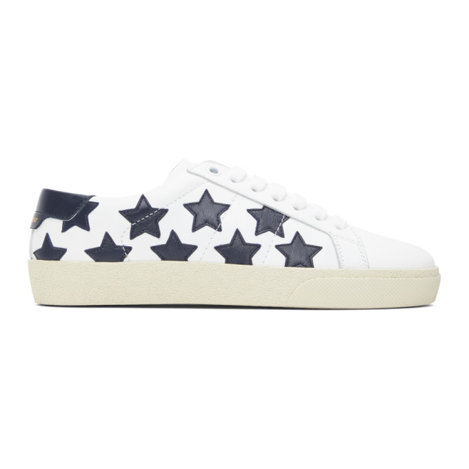 White and Black Star Court Classic Sneakers