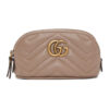 Pink Mini GG Marmont 2.0 Coin Pouch Keychain