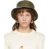 Khaki Leather Fisherman Hat