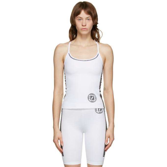 White Fendirama Fitness Top