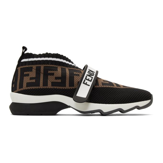 Black Forever Fendi Rockoko Sneakers
