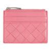 Pink Top Zip Card Case