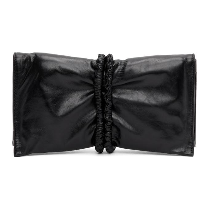 Black Padded Bifold Clutch