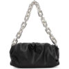 Black The Chain Pouch Clutch