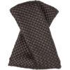 Brown Intrecciato Bow Tie Clutch