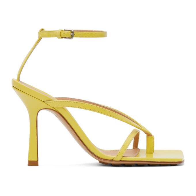 Yellow Stretch Sandals