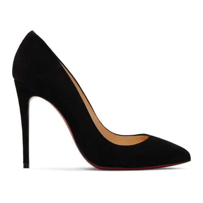 Black Suede Pigalle Heels