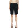 Black Denim Beverly Shorts