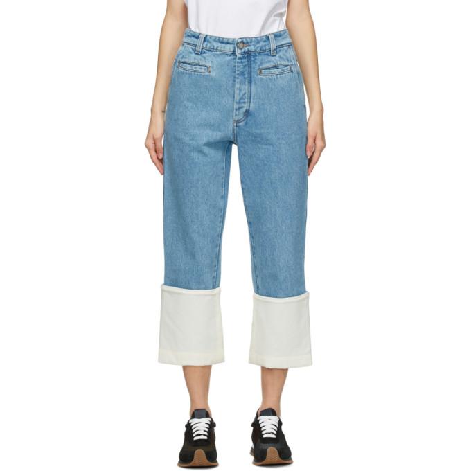 Indigo Fisherman Jeans