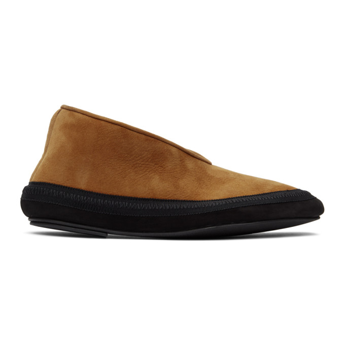 Tan Shearling Fairy Loafers