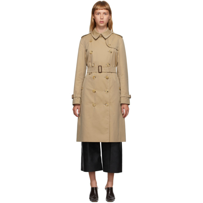 Beige Long Kensington Trench Coat