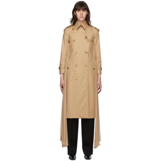 Beige Twill Sash Coat