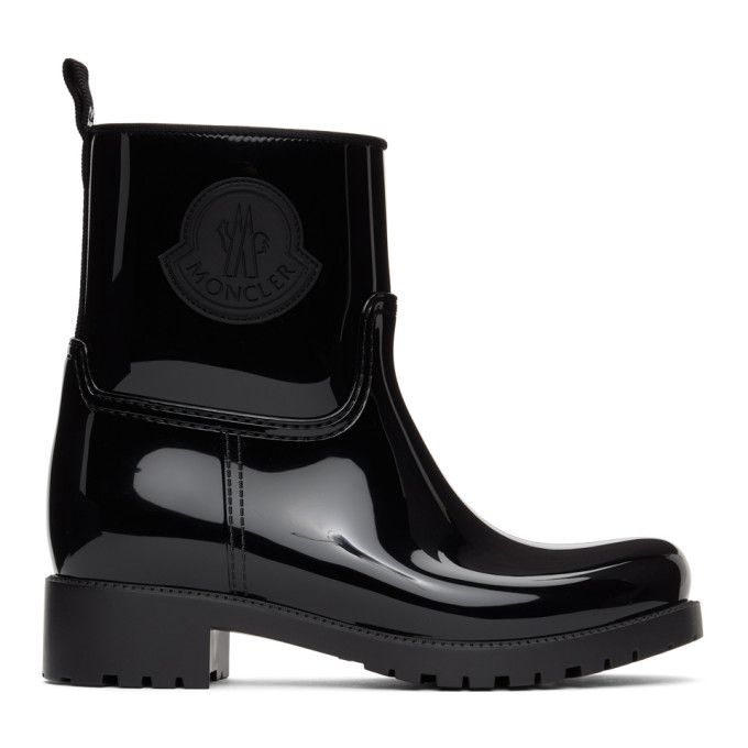 Black Rubber Ginette Boots
