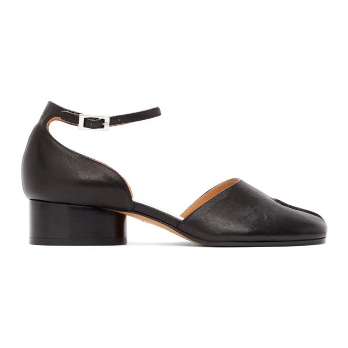 Black Ankle Strap Tabi Heels
