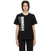 Black Vertical Logo T-Shirt