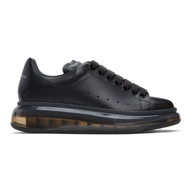 Black Clear Sole Oversized Sneakers
