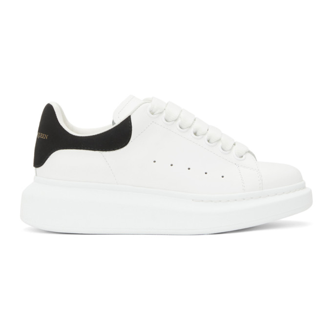 White and Black Oversized Sneakers