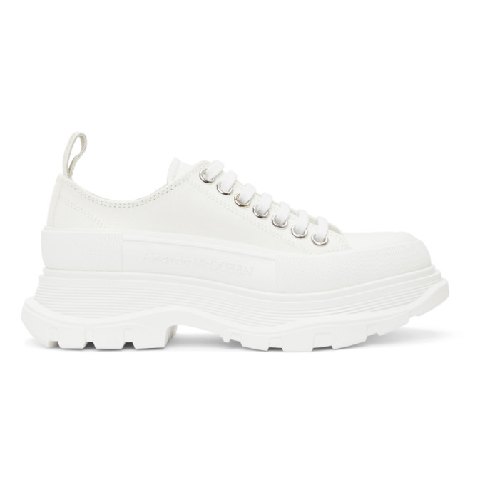 White Tread Slick Low Sneakers