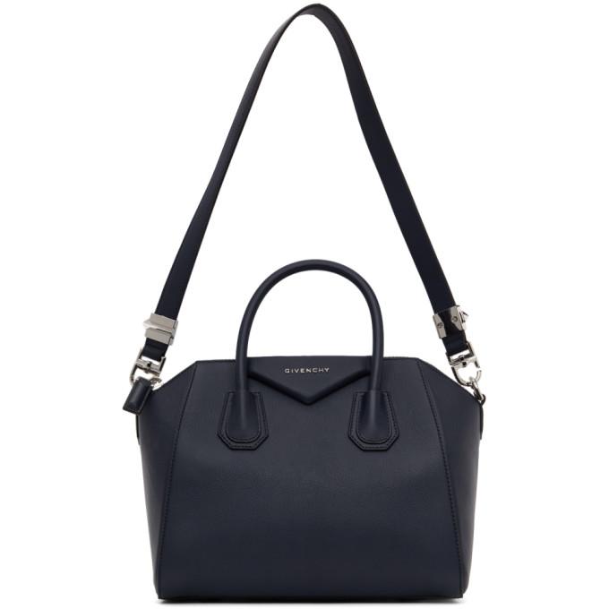 Navy Medium Antigona Bag