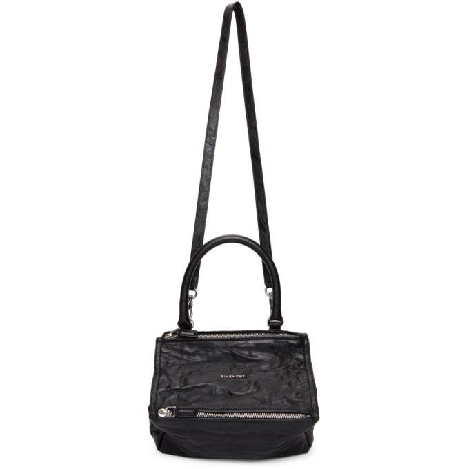 Black Crinkled Small Pandora Bag