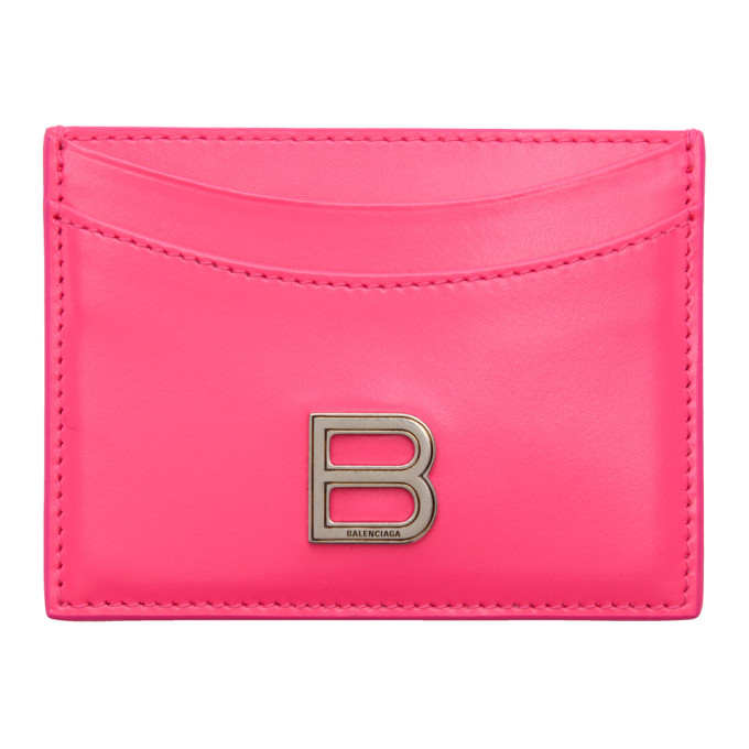 Pink Hourglass Card Holder