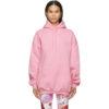 Pink Medium Fit Vintage Logo Hoodie