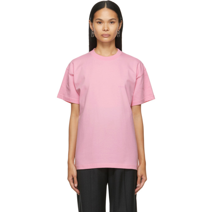 Pink Large Fit Logo T-Shirt