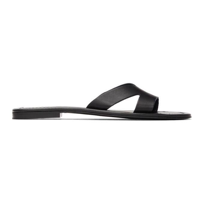 Black Opanka Flat Sandals