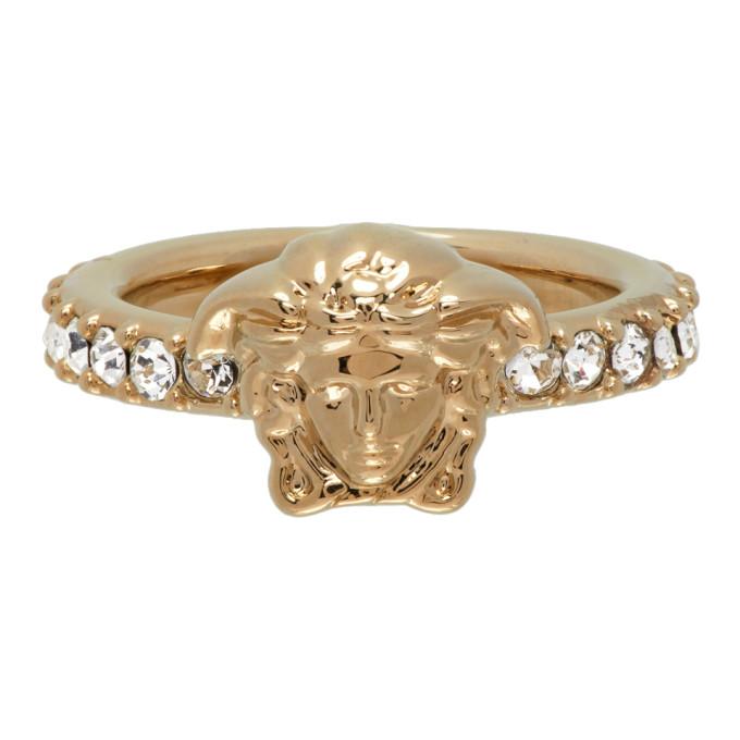 Gold Swarovski Medusa Ring
