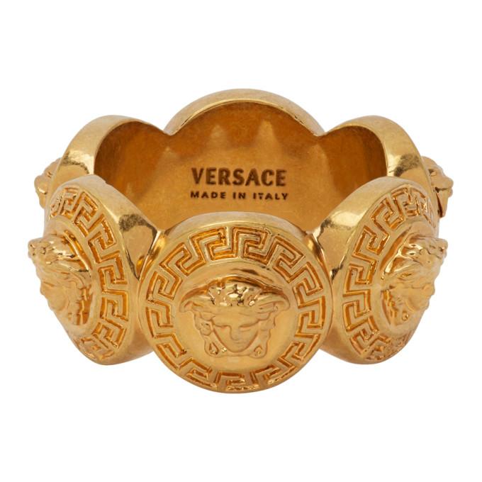 Gold Tribute Medusa Ring