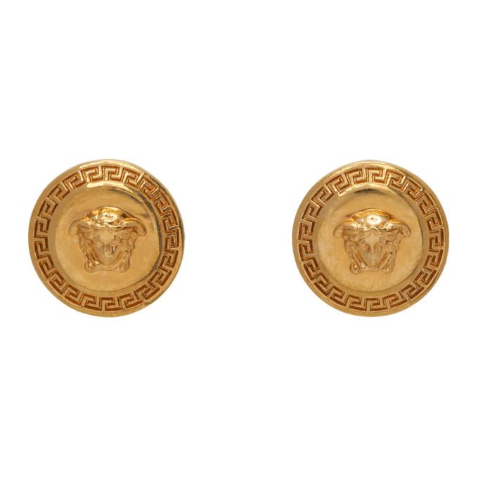 Gold Small Medusa Tribute Earrings