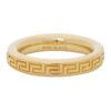 Gold Thin Engraved Greek Key Ring