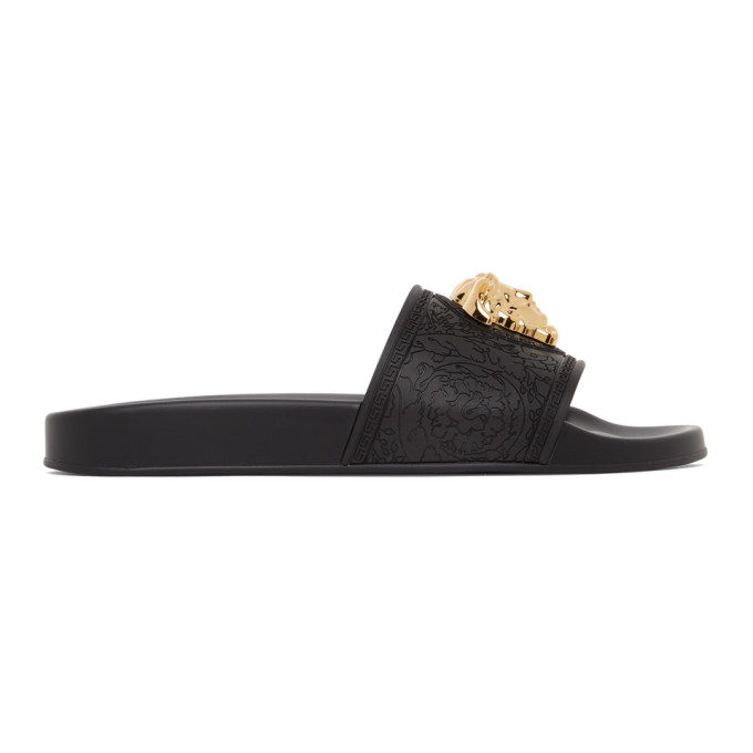 Black Palazzo Pool Sandals