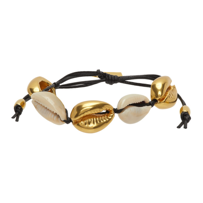 Black and Gold Cowrie Shell Bracelet