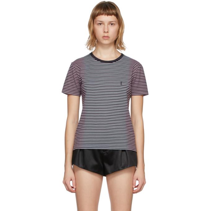 Black Tie-Dye Striped Monogram T-Shirt
