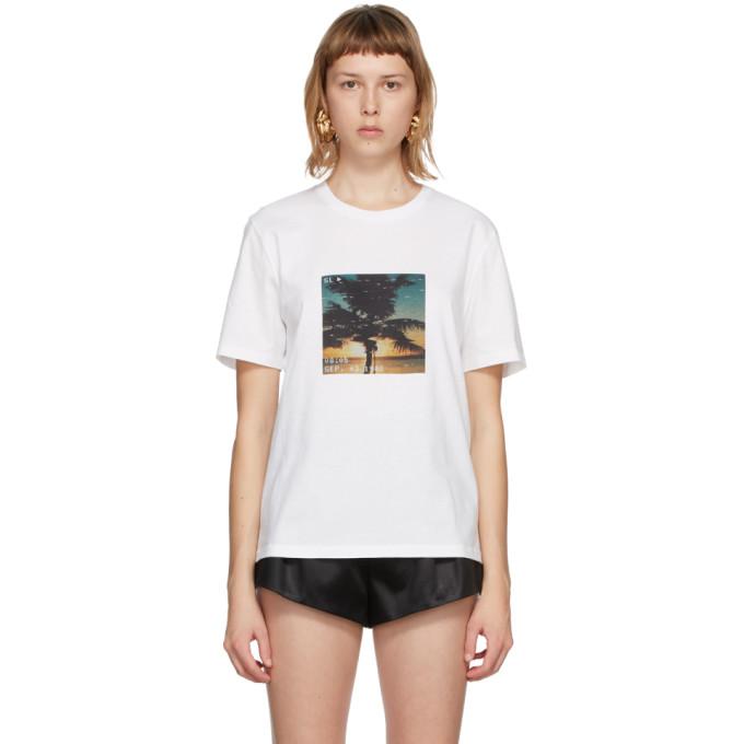 White VHS Sunset T-Shirt